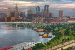 cityscape of st. paul minnesota - stock photo