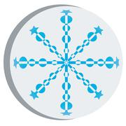 Snow flake sticker 3 - stock illustration