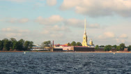 Stock Video Footage of Peter and Paul Fortress