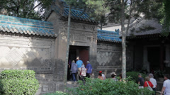 Tourists in the temple , Xi'an city, Shaanxi province, china. Stock Footage