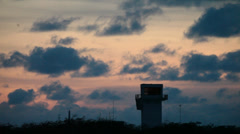 Sunset Over Mogadishu Airport Stock Footage