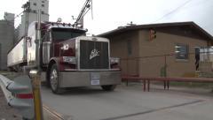 Truck Leaving Co op - stock footage