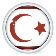 Stock Illustration of Northen Cyprus flag button