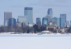 city of minneapolis - stock photo