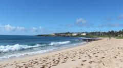 Poipu Beach Kauai Hawaii Stock Footage