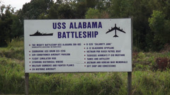 USS Alabama Battleship - stock footage