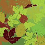 repeating leaf background - stock illustration