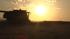 Sunset Combine Stock Footage
