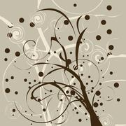 Dying tree brunches Stock Illustration