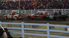 Fancy Old Cars in a Demolition Derby  Stock Footage