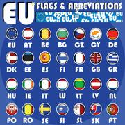 eu buttons - stock illustration