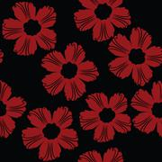 Red floral pattern Stock Illustration
