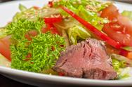 Stock Photo of beef salad