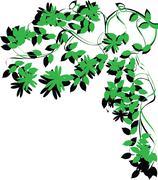 tree brunch foliage - stock illustration