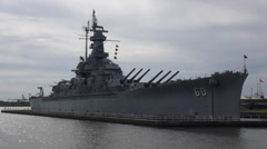 Close up of USS Alabama Battleship Stock Footage