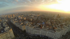 Flying Over Bucharest Stock Footage