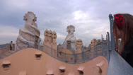 Stock Video Footage of tourist at casa mila