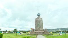Time lapse over Mitad del Mundo (Center of the world) monument near Quito, Stock Footage