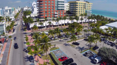 South Beach Miami by the ocean Stock Footage