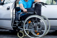 handicapped driver - stock photo