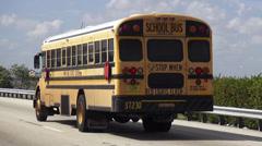 School Bus Miami Dade District Koulut Arkistovideo