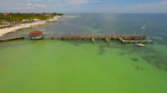 Key west waterfront aerial Stock Footage