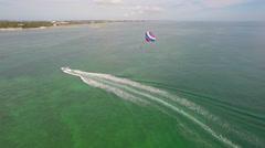 Key west parasail 2 Stock Footage