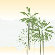 Palm trees Stock Illustration