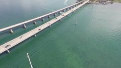 Seven Mile Bridge aerial video Stock Footage