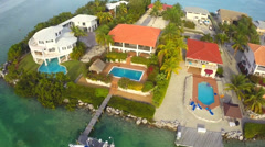 Florida Keys homes aerial video Stock Footage