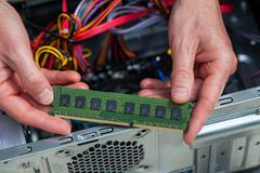 Ram card assemblage Stock Photos