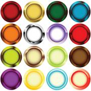 Rim buttons Stock Illustration