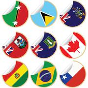 Collection of stickers/labels - stock illustration