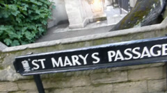St Mary's Passage in University of Oxford, UK. (OX UNI ST SC23ST MARY PASSAGE Stock Footage