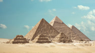 Stock Video Footage of Timelapse Of The Great Pyramids In Giza Valley, Cairo, Egypt 1