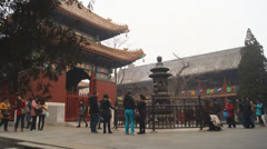 Beijing Lama Temple Yonghegong 05 Stock Footage
