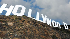 Hollywood Sign Los Angeles Close Shot Stock Footage