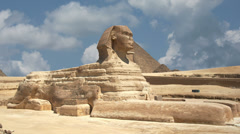Timelapse Of The Sphinx In Giza Valley, Cairo, Egypt 4k 1 Stock Footage