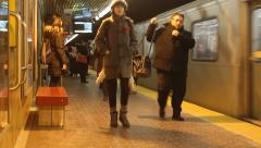Commuters On The Subway Stock Footage