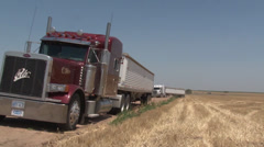 Red and White Trucks Stock Footage
