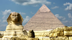 Timelapse Of The Great Pyramids In Giza Valley, Cairo, Egypt 4k 3 - stock footage