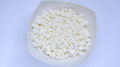 Cottage cheese Stock Footage