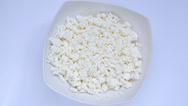 Stock Video Footage of Cottage cheese