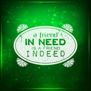 Friend indeed Stock Illustration