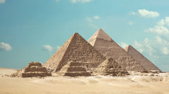 Timelapse Of The Great Pyramids In Giza Valley, Cairo, Egypt 4k 1 Stock Footage