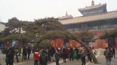 Beijing Lama Temple Yonghegong 08 Stock Footage