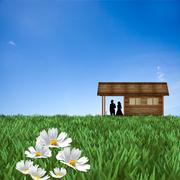 desire house for adv or others purpose use - stock illustration