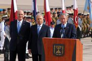 Stock Photo of u.s. president george w. bush visit to israel