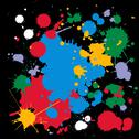 Stock Illustration of colorful ink splats