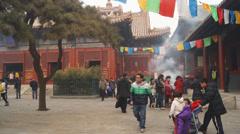 Beijing Lama Temple Yonghegong 07 Stock Footage